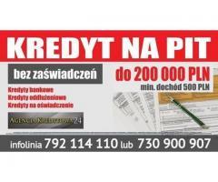 Kredyt dla Firm wystarczy Tylko KPiR. Jeśli pracujesz na etacie wystarczy Pit11 (Oferta Czasowa )